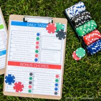 Use poker chips to create a kids chore system that works.