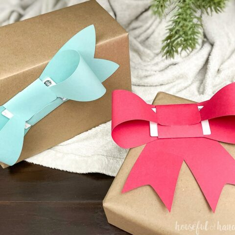 paper bow on presents