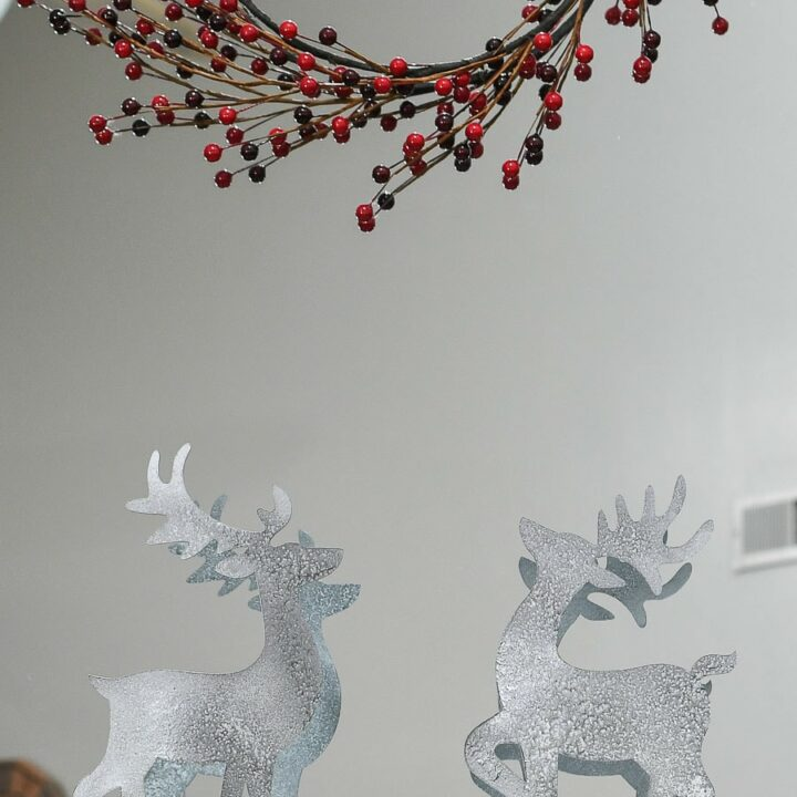 christmas reindeer on mantel