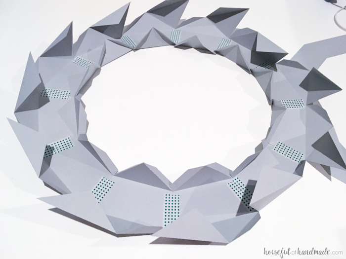 dodecagon folded for DIY anthropologie knock off mirror