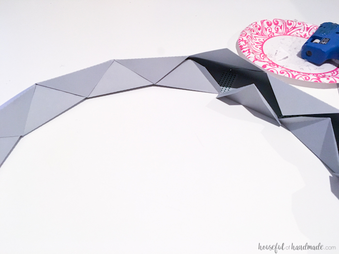 folding inside of dodecagon for the mirror frame.