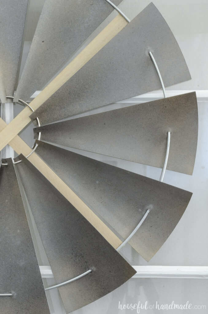 close up of decorative windmill