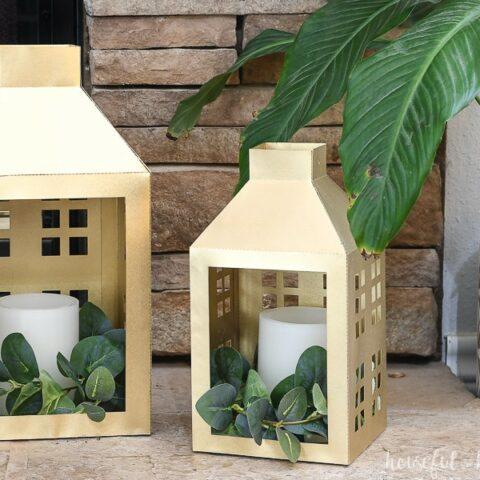 2 paper lanterns