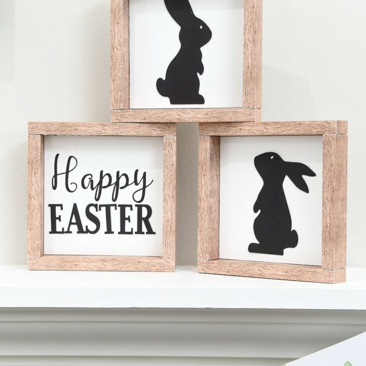 paper easter signs bunny