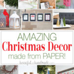 11 pictures of the 19 Christmas decor crafts that are made from paper.