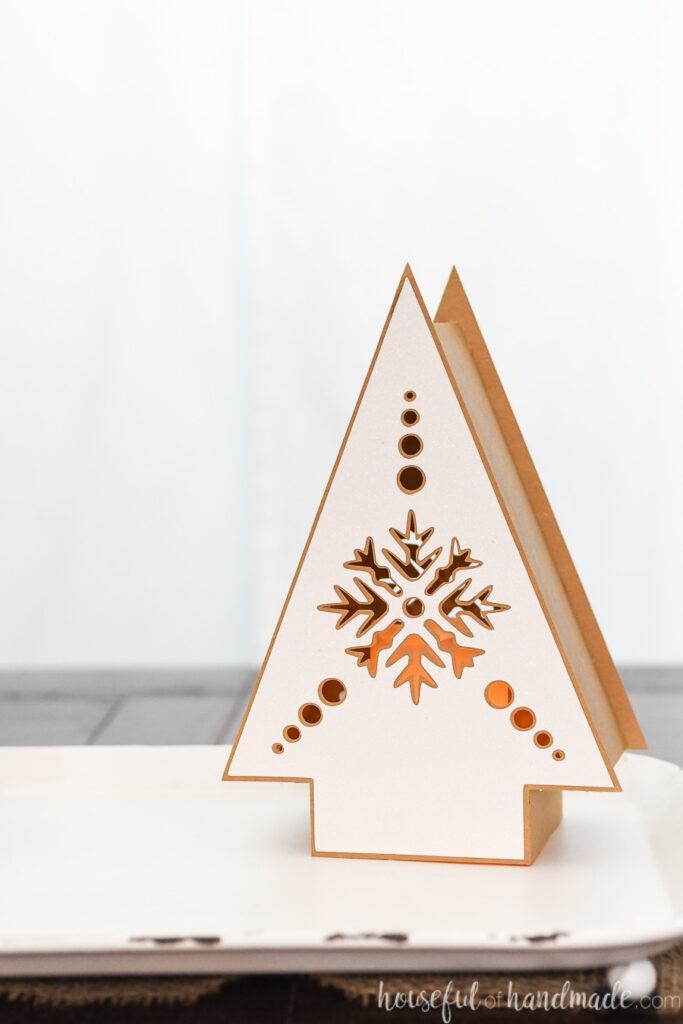 single nordic paper lantern on table
