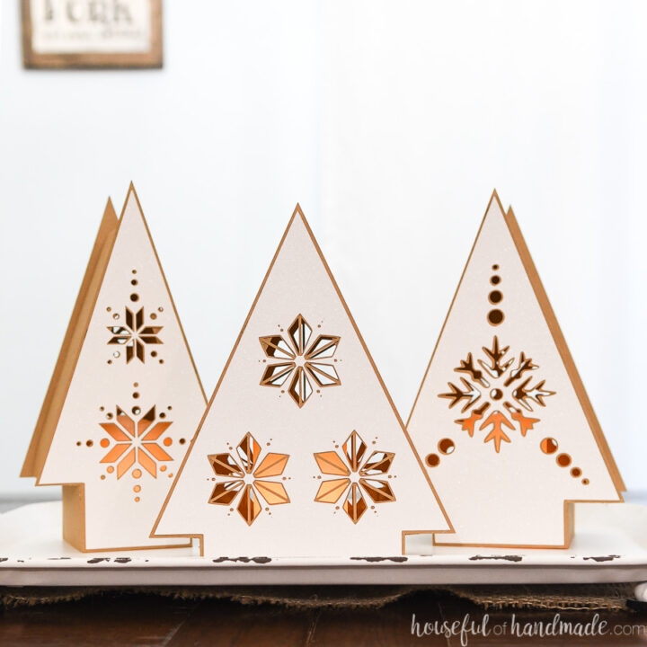 Neutral paper lanterns for DIY hygge Christmas decor.