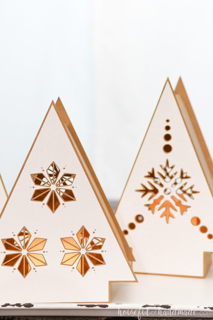 set of 2 paper nordic christmas trees