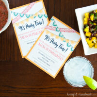 two invitations to an salsa margarita birthday party