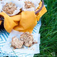 Cinnamon Pear Muffins in basket