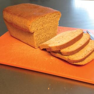 whole wheat sandwich bread on counter