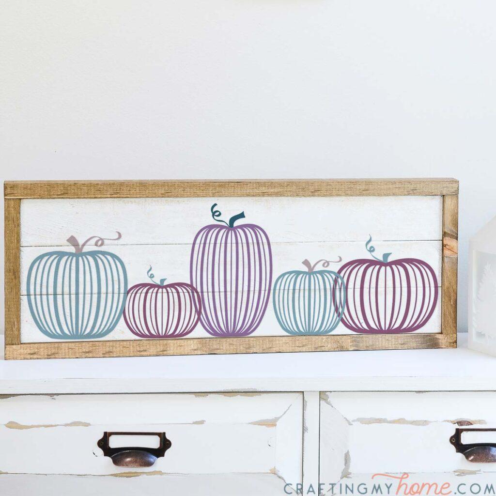 Fall sign created using the modern pumpkin SVG files.